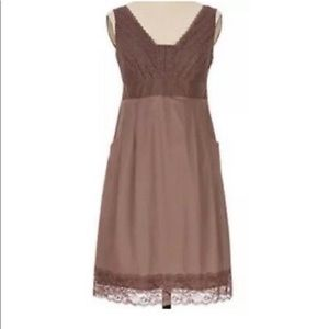 Anthro Moulinette Soeurs Brown Lace Cotton Dress 6